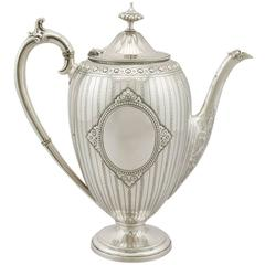 Antique Victorian Sterling Silver Coffee Pot by Barnard & Sons Ltd