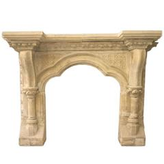 Reclaimed Victorian Gothic Limestone Surround