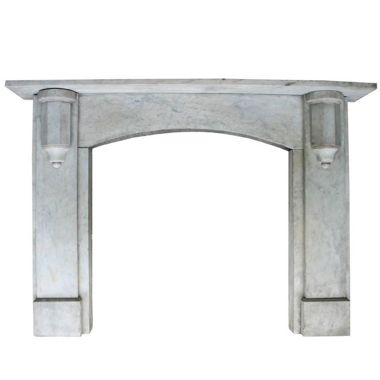 Reclaimed Mid-19th Century Carrara Marble Fire Surround For Sale