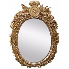 18th Century Military Style Water Gilded Mirror