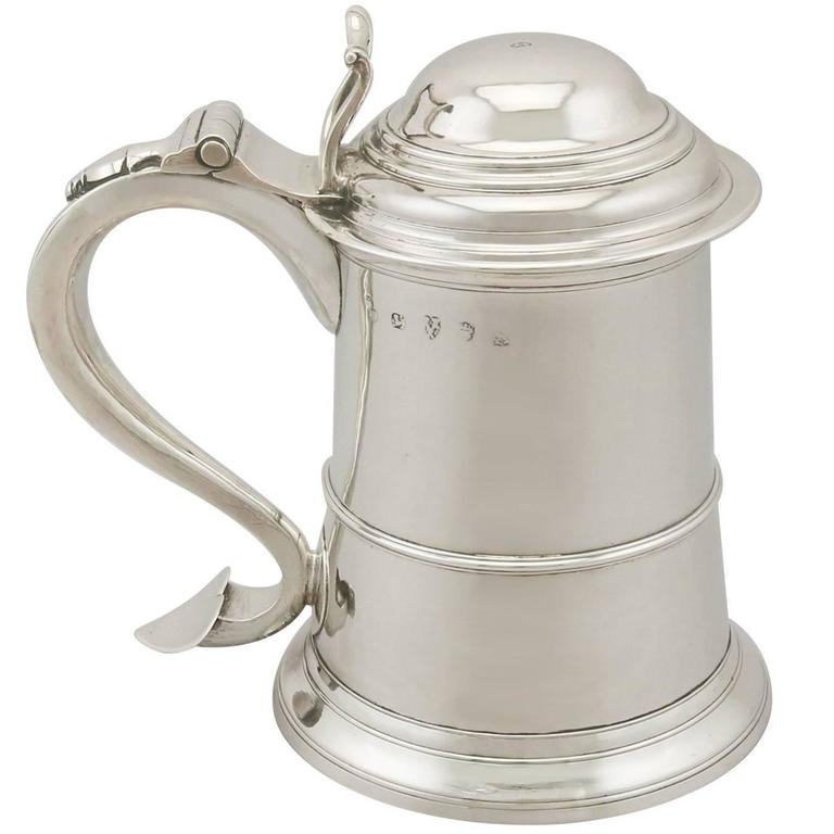 Antique George II Newcastle Sterling Silver Tankard