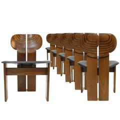 "Set of Six ""Africa"" Chairs Designed by Afra and Tobia Scarpa and Edited, Maxalto"