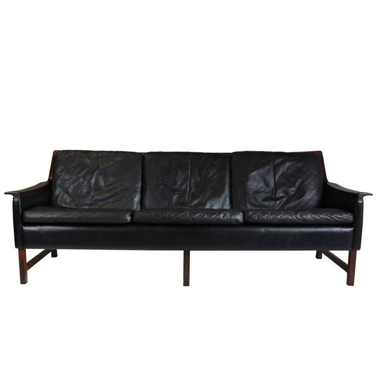 1960s Minerva Three Seat Sofa By Torbjørn Afdal For Bruksbo For Sale