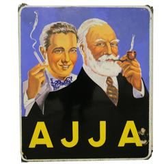 Enamel Sign AJJA Tobacco, 1953