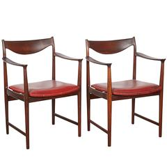 Rosewood Arm Chairs by Torbjorn Afdal, Pair