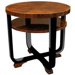Exclusive Art Deco Side Table Walnut Wood