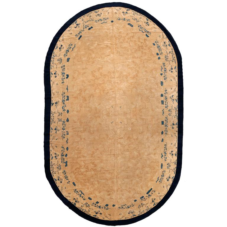 Large Oval Vintage Chinese Carpet For Sale At 1stdibs