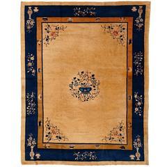 Fine Art Deco Ivory Peking Carpet