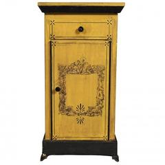Antique French Mustard Tole Cabinet