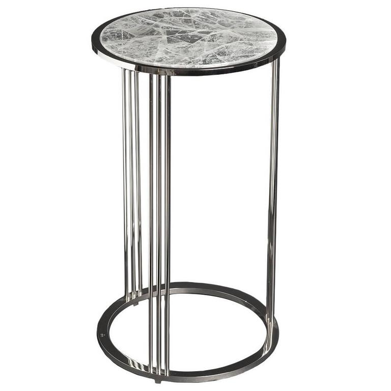Exquisite tall round side table for sale at 1stdibs for Tall side table