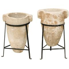 Pair of 19th Century Spanish Colonial Stone Water Filters