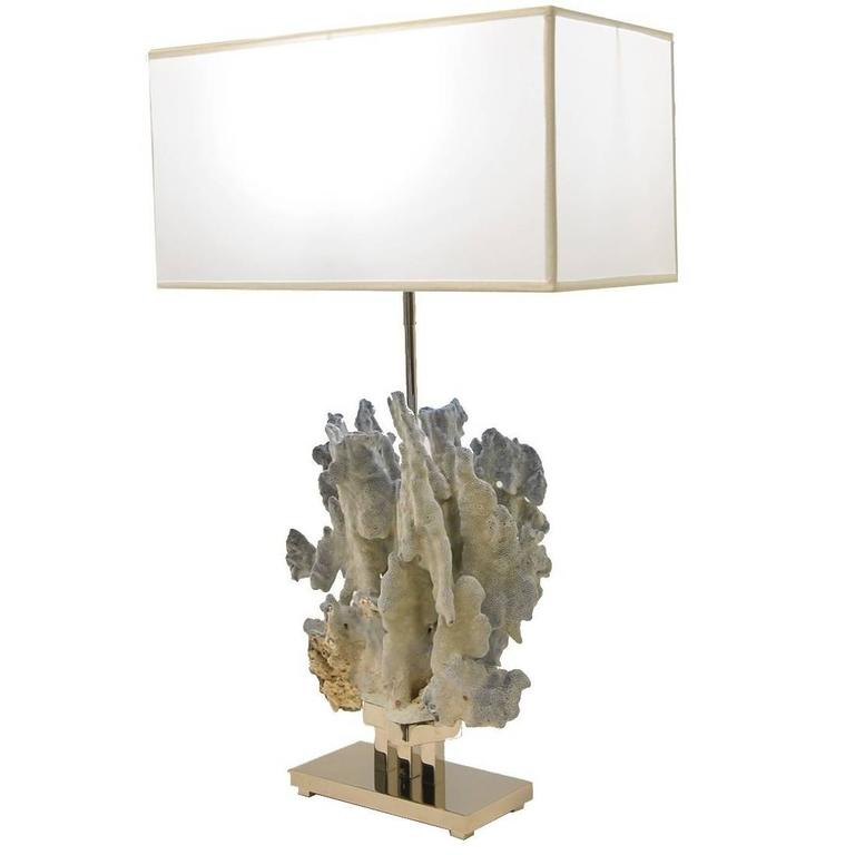 Blue Coral Lamp For Sale