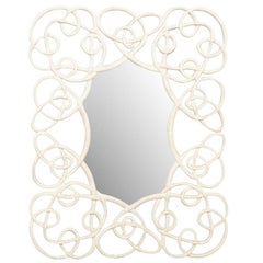 Large Wall Mirror with Intricate Twisting Vine like Pattern in the Surround
