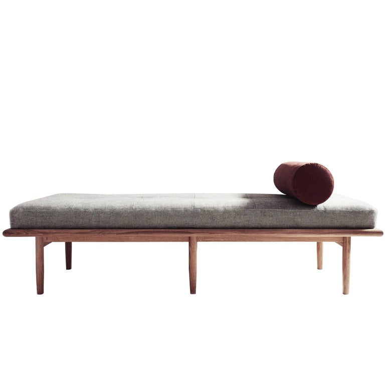 Pleasing Sylva Daybed In Woven Linen And Rust Moleskin And White Oak Cjindustries Chair Design For Home Cjindustriesco