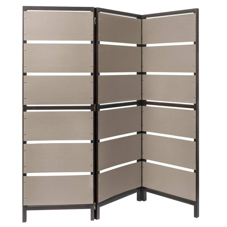 Elegant Leather Room Divider For Sale