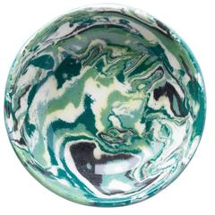 Cabana Green Marble Ceramic Mini Bowl