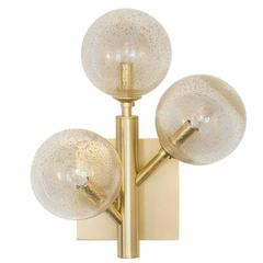 Elegant Brass 'Mimosa' Wall Lamp