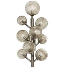 Striking Nickel 'Mimosa' Wall Lamp