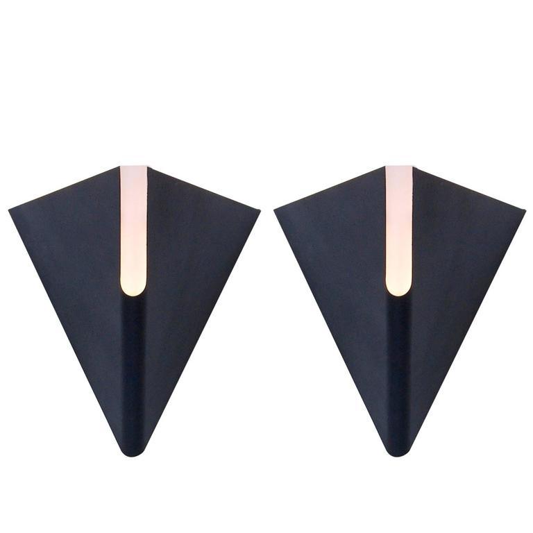 1970s Triangular Sconces