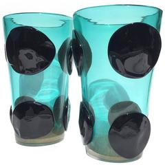 Pair of Murano Glass Vases by Pino Signoretto