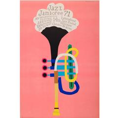 Original Vintage Jazz Jamboree 71 Poster, the 14th International Jazz Festival