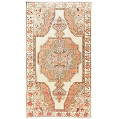 Vintage Anatolian Village Rug in Soft Colors