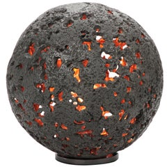 Hot Planet Table Lamp in Bronze by Christopher Kreiling