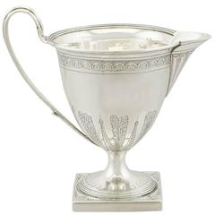 Antique Sterling Silver Cream Jug by Henry Chawner, George III, 1794