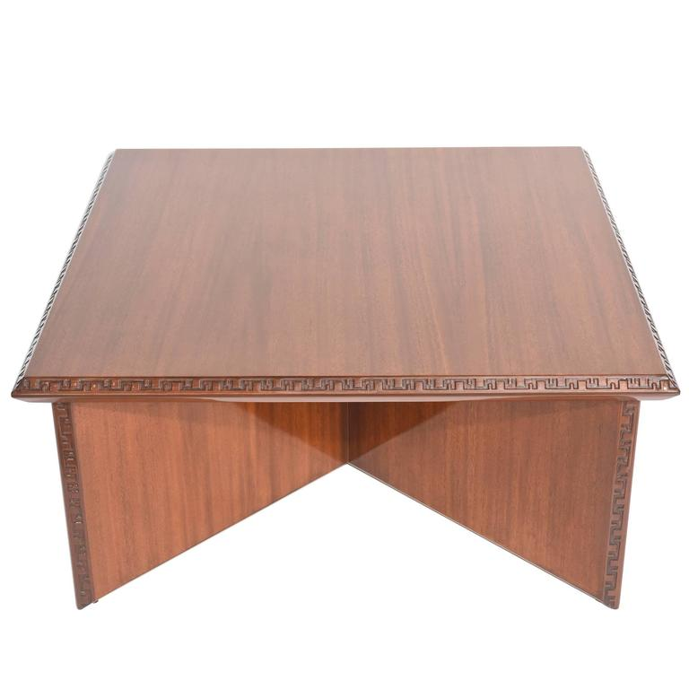 "American Modern Mahogany ""Taliesin"" Low Table, Frank Lloyd Wright"