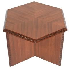 "American Modern ""Taliesin"" Hexagonal Low Table, Frank Lloyd Wright"