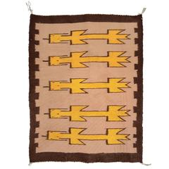 Vintage Navajo Yei Rug Woven by Nelly Nez with the Original Fred Harvey Tag