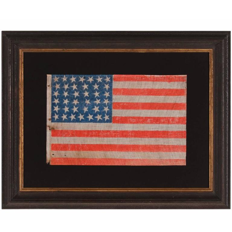 38 Stars on an Antiques American Parade Flag with Strong Colors