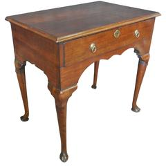 George II Walnut Lowboy