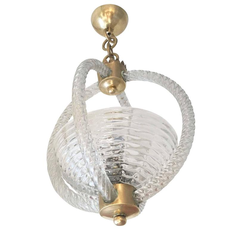 Murano Glass Chandelier Attributed to Barovier