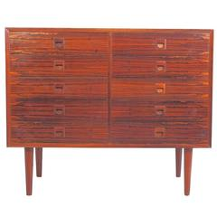 Danish Modern Rosewood Commode with Ten Drawers