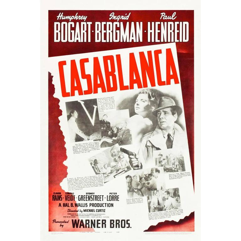 Casablanca, 1942 For Sale