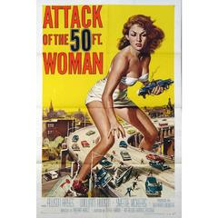 """Attack Of The 50 Ft. Woman"" Film Poster, 1958"