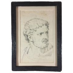 Portrait Drawing of Antoninus Pius