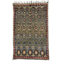 Mid-Century Modern Vintage Berber Moroccan Rug