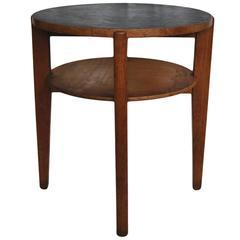 Pair of Midcentury Industrial Oak Side Tables