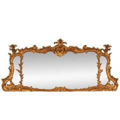 Outstanding Gilt Carved Mantle Mirror