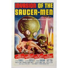 """Invasion Of The Saucer Men"" Film Poster, 1957"