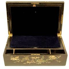 19th Century Chinoiserie Decorated Inlaid Writing Box