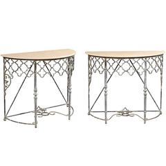 Pair of Classic Design Demilune Tables