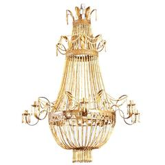 Chinese Bamboo Chandelier