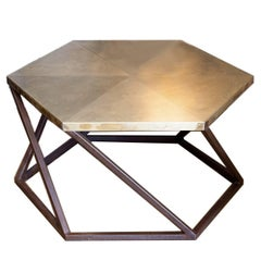 Exagono Brass Coffee Table