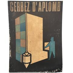 Vintage French Modern Poster on Board