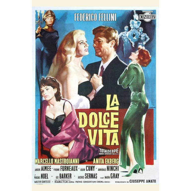 """La Dolce VITA"" Film Poster, 1960"