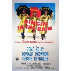"""Singin' In The Rain"" Film Poster, 1952"