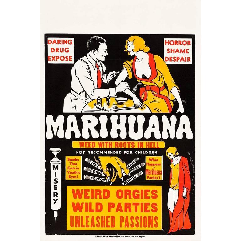 """Marihuana"" Film Poster, 1936"